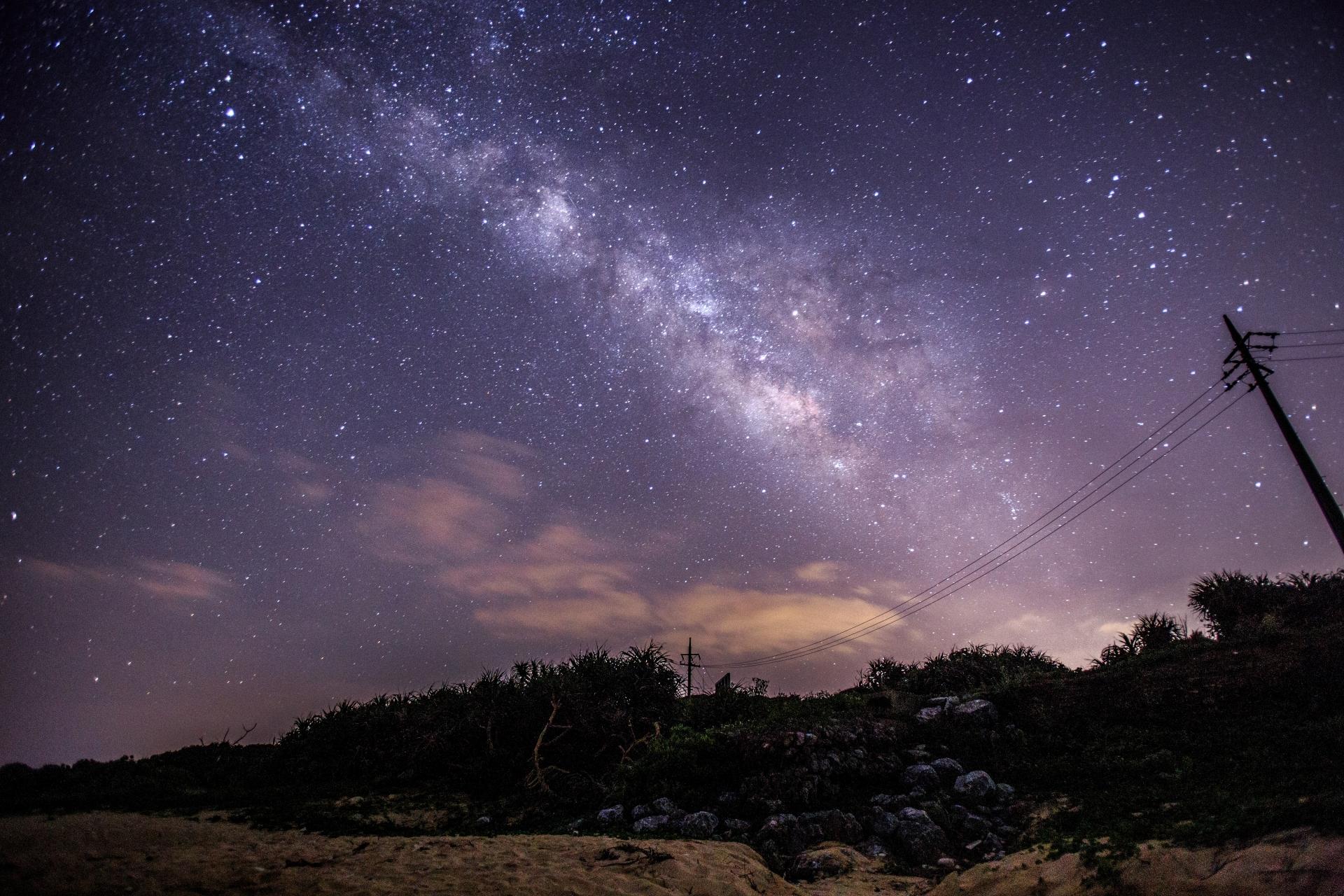 天の川の見える石垣島の星空