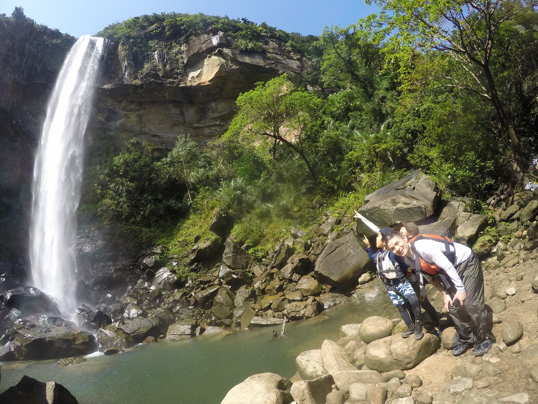 ピナイサーラの滝つぼでリラックス